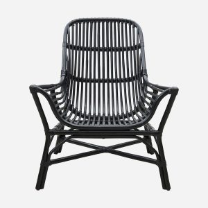 Lounge chair, Colony, Black, Seat height: 30 cm