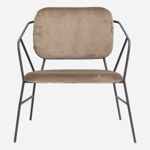 Lounge chair, Klever, Brown, Seat height: 39 cm
